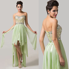 Sexy High-low Evening Dress Women Formal Party Gowns CELEB Pageant Prom Dresses