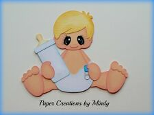 Craftecafe Mindy Baby  boy premade paper piecing for scrapbook page album