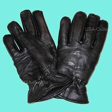UNISEX LEATHER WINTER DRIVING INSULATED THICK SOFT GLOVES  CLEARANCE SALE- UV7N