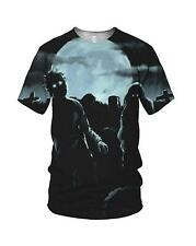 All Over Print Halloween Zombies Men's And Ladies T Shirts, S, M, L, XL, XXL