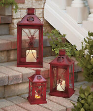 Individual Metal Candle Lanterns Country Stars Cottage Home Decor Small  Medium