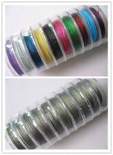 Wholesale 100 Meter(10 Roll)Silver/Mixed Copper Tiger Tail Beading Wire/0.38