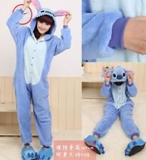 Hot Unisex Adult Kigurumi Pajamas Anime Cosplay Costume Onesie Dress Stitch