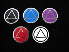 "Alcoholics Anonymous  AA Symbol Decal 1.5"" Round Window or Bumper Sticker"