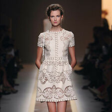Guipure Lace Dress Cocktail Dress Celebrities Designer Valentino Style