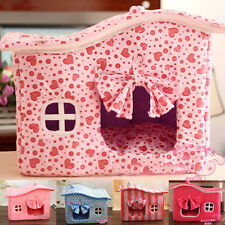Various Style Super Soft Cute Comfy Small Dog Pet Cat Indoor House Kennel Bed