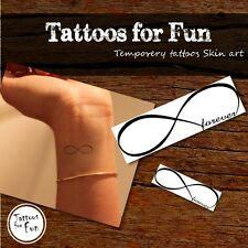 Infinity Temporary Tattoos - Forever Infinity Tattoos - Fake Black & White Tatts