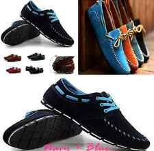 Casual New Men's Suede Lace-up Slip On Loafer Shoes Moccasins Driving Shoes