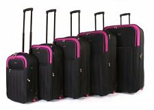 5 Piece ultra-light Luggage Wheel trolley travel suitcases set In three Colours