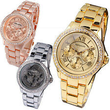 New Fashion  Stainless Steel Luxury Analog Quartz Girls Women Ladies Wrist Watch