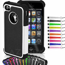 high quality STYLISH SHOCK PROOF SERIES CASE COVER FOR IPHONE 4 and 4S