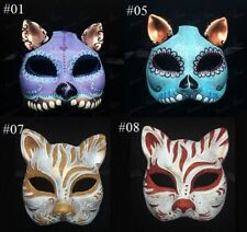 Day of the Dead Cat Mask - Gato Muerto -Cat Masquerade Mask, Cat Mask Collection