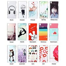Colored Pattern Hard Plastic Cover Case Skin For Sony Xperia Z3 L55U + Free SP