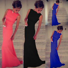 2014 HO Sexy Women Sleeveless Prom Ball Cocktail Party Dress Formal Evening Gown