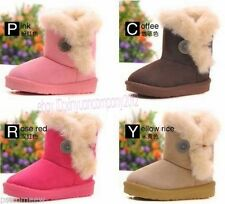 New Girls Boys Boots Kids Children Cotton Antislip Shoes Snow Boots Winter T102