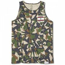 Diamond Supply Co My Country Tank Top Vest in Simplicity Green Camo