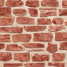 NEW HOLDEN DÉCOR BRICKWORK RED BRICK WALL TEXTURED VINYL WALLPAPER ROLL 20899