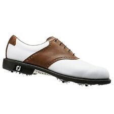 NEW FootJoy Men's Icon 52217 Golf Shoes - White/Bomber Taupe - Mfr. Close-out!