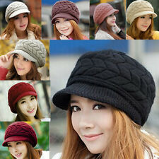 Womens Lady Winter Warm Knitted Crochet Slouch Baggy Beanie Hat Cap B