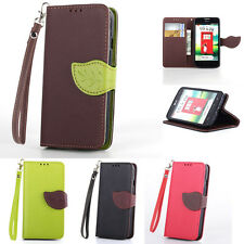 Magnetic Flip Wallet Card Slot Leather Case Cover for LG Optimus L70/Nexus 4 5