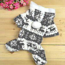 Warm Soft Winter Hoodie Jumpsuit Coat Clothes Costume For Pet Dog Puppy 5 Sizes