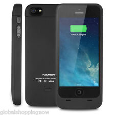 FLOUREON External Protective iPhone 5 5S Battery Case Apple MFI Certified Audio