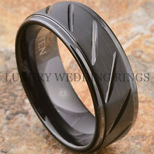 Black Tungsten Carbide Ring Wedding Band Love Anniversary Mens Jewelry Size 6-13