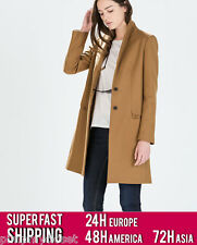 ZARA WOOL CAMEL COAT | 8143/317 | VERY FAST SHIPPING