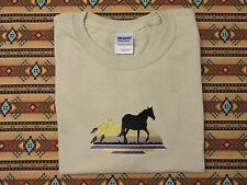 Embroidered Native American Feathers and Horse T Shirt