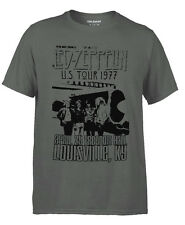 LED ZEPPELIN 1977 TOUR POSTER T-SHIRT BRAND NEW, RETRO STYLE - MENS TEE *TeeHub*