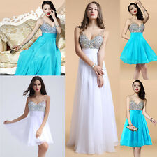 2015 Stock Short/Long Cheap Evening Gowns Party Pageant Prom Bridesmaid Dresses