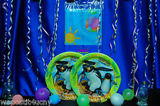 Surfs Up Party Set # 4 / 5 Surfs Up Party Supplies Plates Napkins Penquin Party