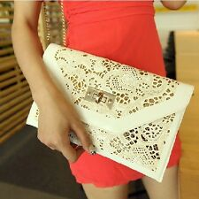 2014 New Fashion lady Korean Institute style hollow envelope clutch bag handbags