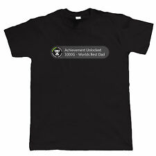 Achievement Unlocked Worlds Best Dad Funny Gamer T Shirt - Christmas Gift