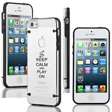 For Apple iPhone 6/6 Plus Clear Hard TPU Case Cover Keep Calm Play On Waterpolo