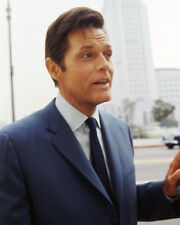 HAWAII FIVE-O JACK LORD CANDID IN BLUE SUIT PHOTO OR POSTER