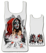 187 Inc Love Kills White Womens Beater Tank Tattoo Inspired Urban Streetwear