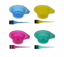 Tint Bowl and Brush Pink Blue Yellow Green
