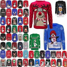 WOMENS LADIES OLAF FROZEN CHRISTMAS XMAS KNITTED JUMPER NOVELTYRETRO WINTER TOP