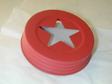 Mason Jar Red or Galvanized Wide Mouth Star Cutout  Lid - Candle, Potpourri, Oil