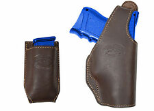 New Barsony Brown Leather OWB Holster + Mag Pouch Astra Beretta Compact 9mm 40