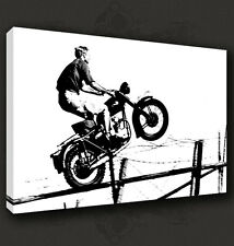STEVE MCQUEEN ICONIC CANVAS PRINT POP ART POSTER MANY SIZES TO CHOOSE