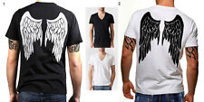 Tattoo Men New Demon Angel Wings Graphic t-shirt top tee rock music  S M L XL