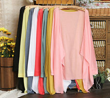 2015 Girl Summer Fashion Tops Cotton Long Sleeve Air Conditioning Cape Clothing