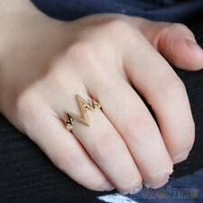 Stunning Zigzag Arrow Shape Band Finger Ring Royal Nobby Metal Casting Midi Ring