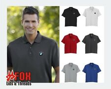 BMW Embroidered Solid Performance Polo Golf Shirt - S M L XL 2XL 3XL - 6 Colors