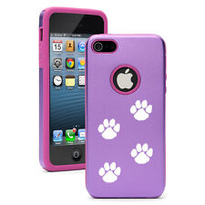 For Apple iPhone 6 6s Plus Aluminum Silicone Hard Case Cover Paw Prints Walking