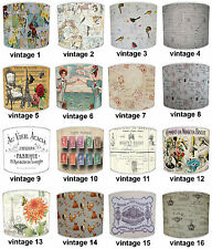 Vintage French Script Postcards Posters Table Lamp Shades Or Ceiling Lights