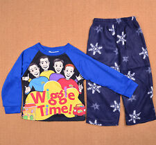 2-6 The Wiggles Boys Kids Winter 2PC Set Pajamas Cotton/Polar Pyjamas Pj Gift