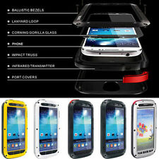 Waterproof Aluminum Gorilla Glass Metal Case Cover For Samsung Galaxy S4 i9500